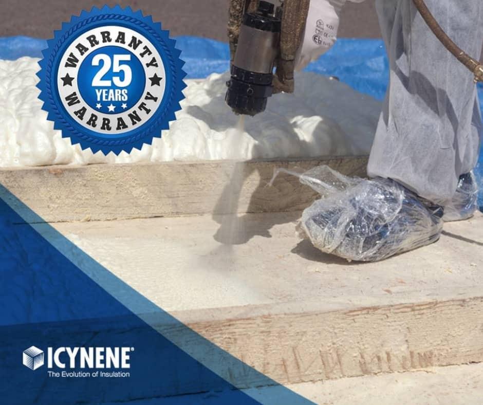 Icynene biedt 25 jaar garantie op alle isolatieproducten